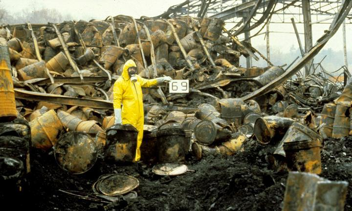 Экологическая катастрофа 1986 года в Швейцарии Рейне, фото