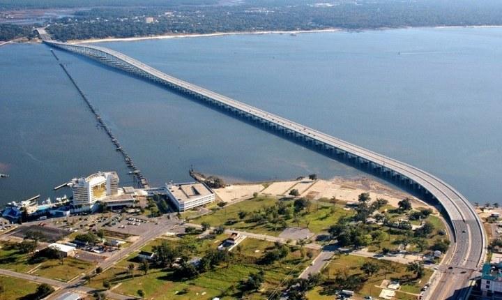 Мост Biloxi Bay Bridge в Билокси, фото