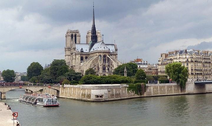 Остров Сите на реке Сена, фото