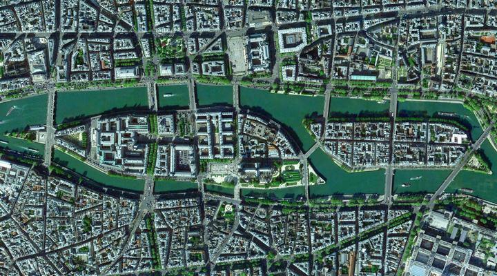Остров Сите на реке Сена, карта