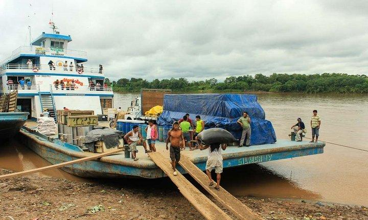 Паромы на реке Амазонка, фото