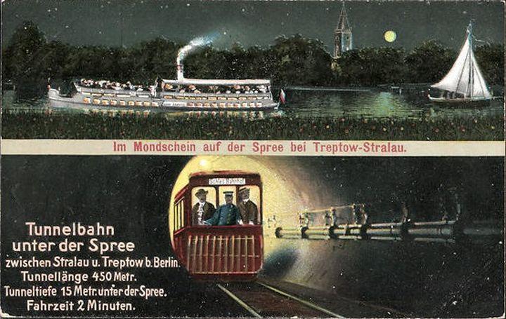 Первый тоннель под рекой Шпрее, фото