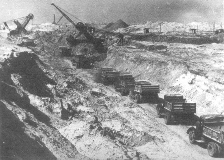 Строительство Волго-Донского канала, фото