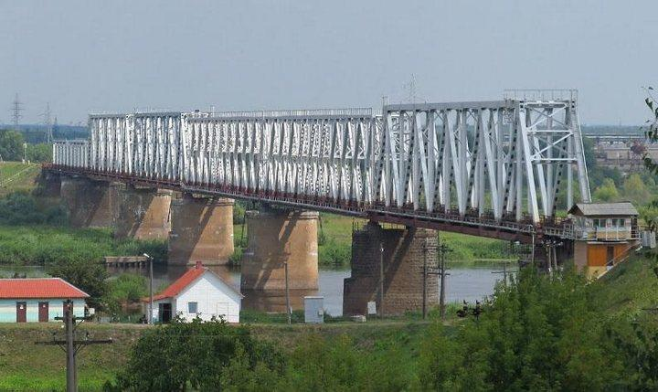 Железнодорожный мост через Припять в Мозыре, фото