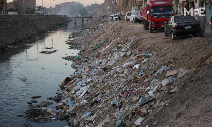 Загрязнение реки Нил в городах Египта, фото