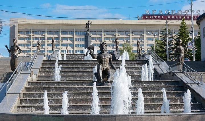 Фонтан «Реки Сибири», фото