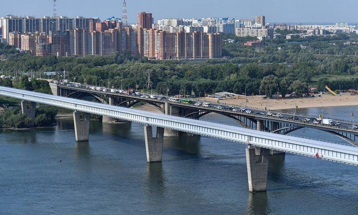 Метромост в Новосибирске, фото