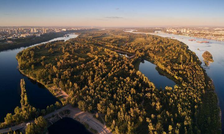 Остров Татышев, Красноярск, фото