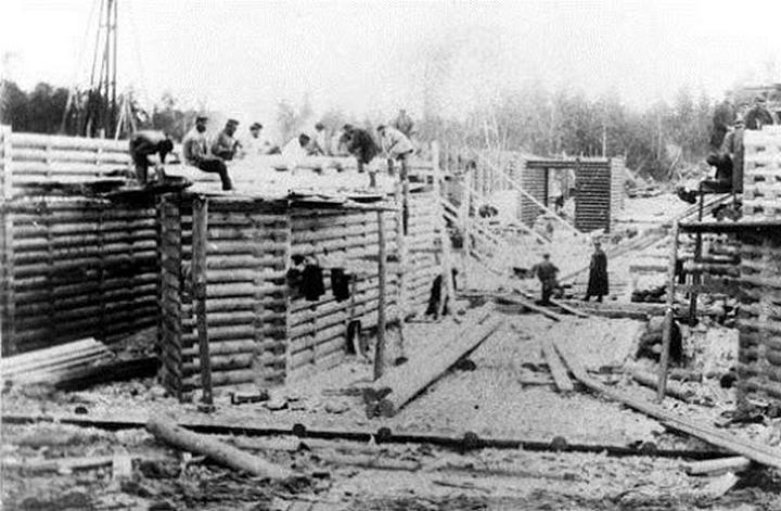 Стройка Обь-Енисейского канала, фото