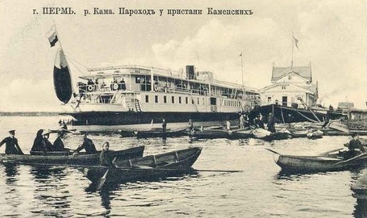 Первые пароходы на Каме, фото
