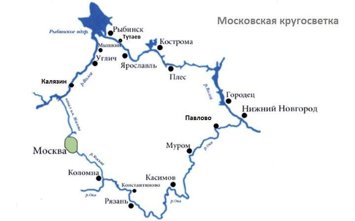 """Карта """"Московская кругосветка"""", фото"""