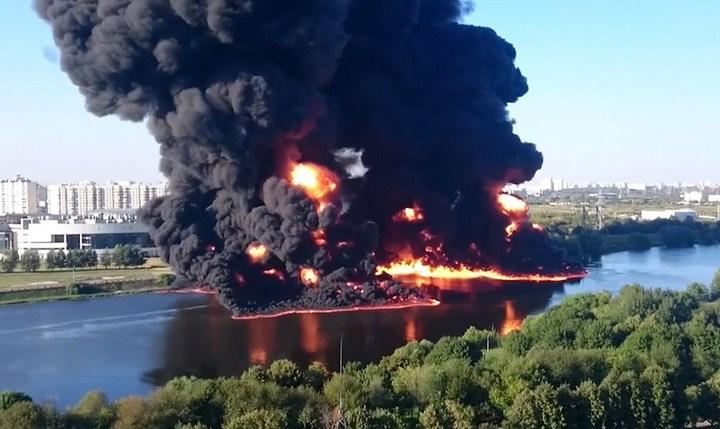 Пожар на Москве-реке, фото