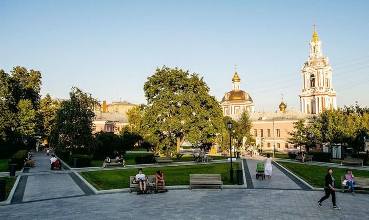 Сад им. Баумана в Москве, фото